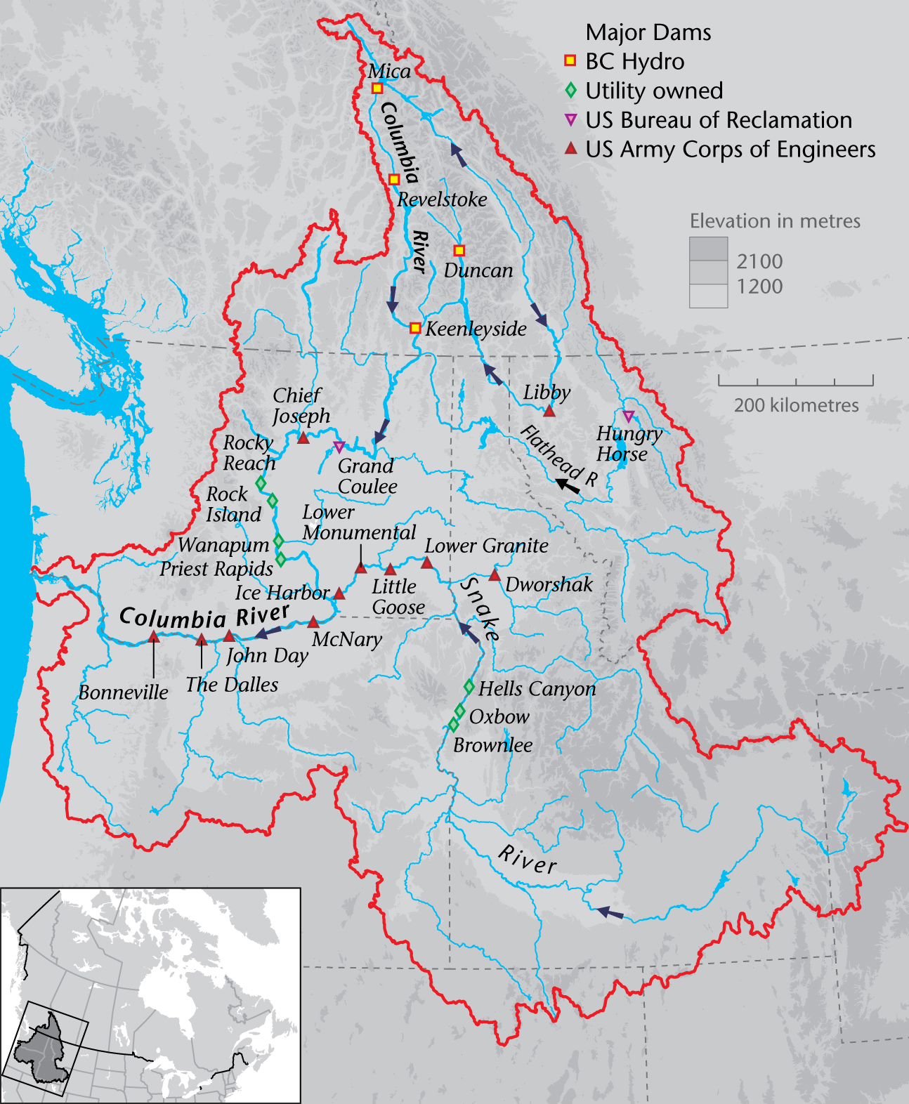 Policy Briefs English Program On Water Governance - Columbia river map us